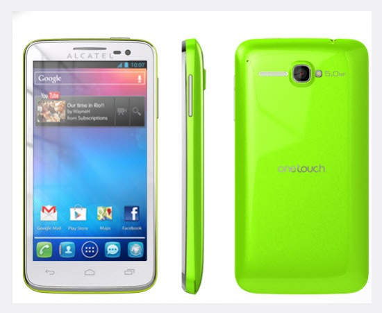 Alcatel One Touch X Pop, color verde manzana