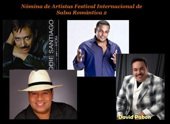 Artistas Festival Internacional de Salsa Romántica 2