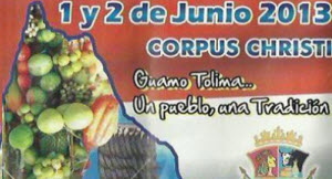 Corpus Christi en Guamo, Tolima 2013