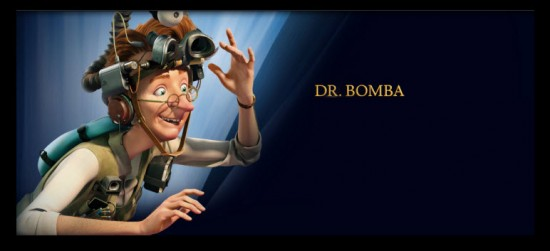 Dr Bomba personaje película El Reino Secreto 3D