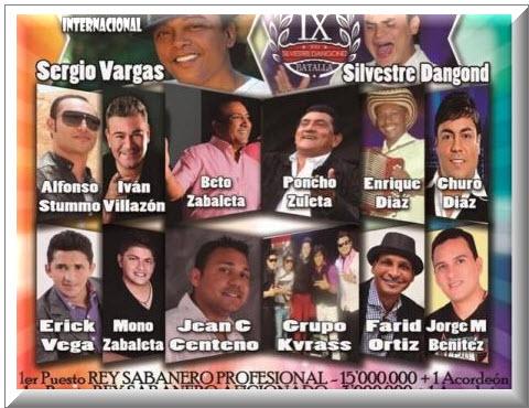 Festival Sabanero de Acordeoneros y Compositores en Sahagúb, Córdoba 2013