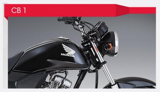 Honda CB 1 vista parte delantera