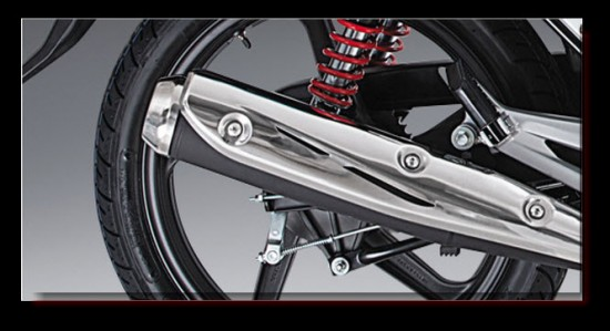 Honda CB125E Power Sport, tubo de escape