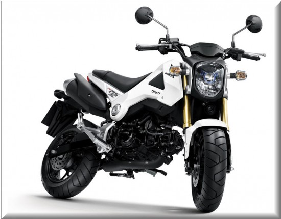 Honda MSX125, color blanco