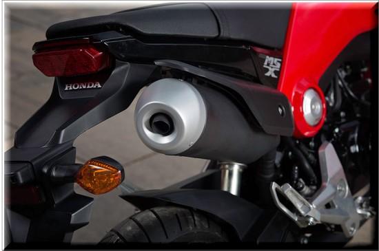 Honda MSX125, tubo de escape