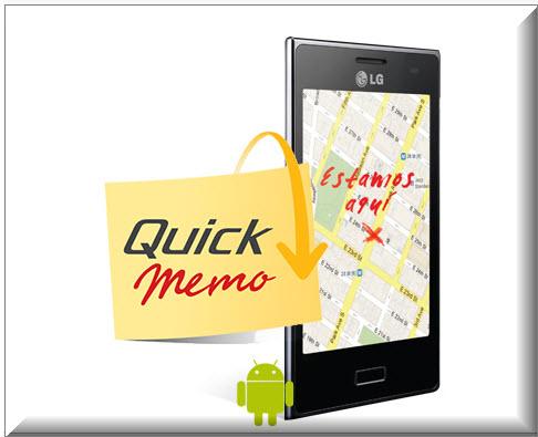 LG Optimus L7 , QUICK MEMO