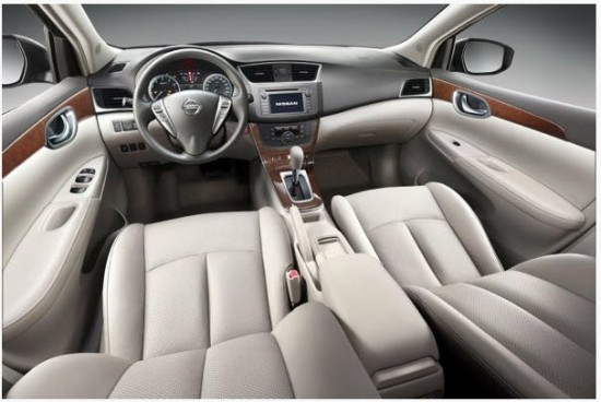 Nissan Sentra 1.8, vista parte interior