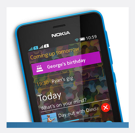 Nokia Asha 501, diseño
