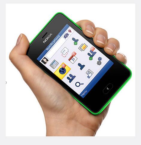 Nokia Asha 501, peso  91 gramos