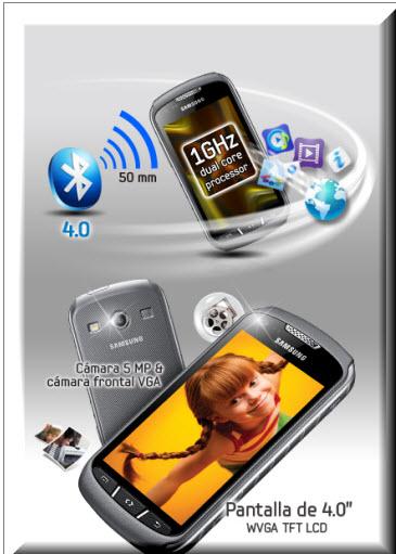 Samsung Galaxy Xcover 2 , pantalla de 4 pulgadas