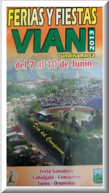 Afiche oficial Ferias y Fiestas en Viani 2013