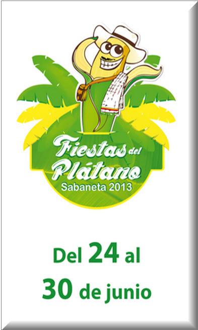 Afiche oficial Fiestas del Plátano 2013