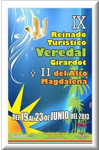 Afiche oficial Reinado Turístico en Girardot, en Cundinamarca 2013