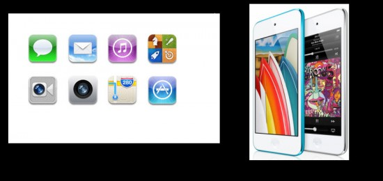 Apple ipod Touch, Apps Integradas