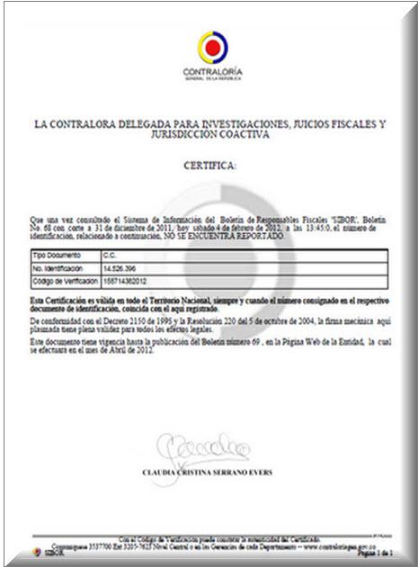 Certificado de Antecedentes Fiscales 2013