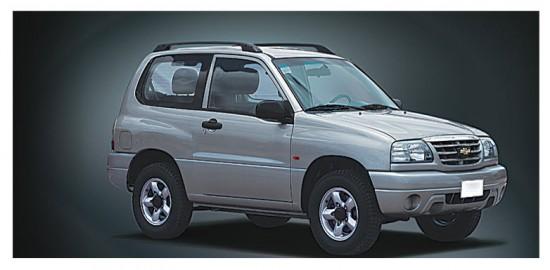 Chevrolet Grand Vitara 3 puertas, vista parte exterior