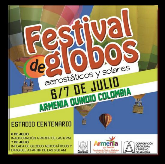 Festival de Globos Aerostáticos y Solares  2013 en Armenia