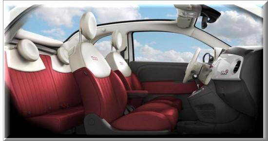 Fiat 500 Cabrio 2013, diseño interior