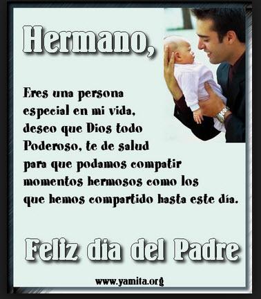 Postales para el dia del Día del Padre dedicado al hermano
