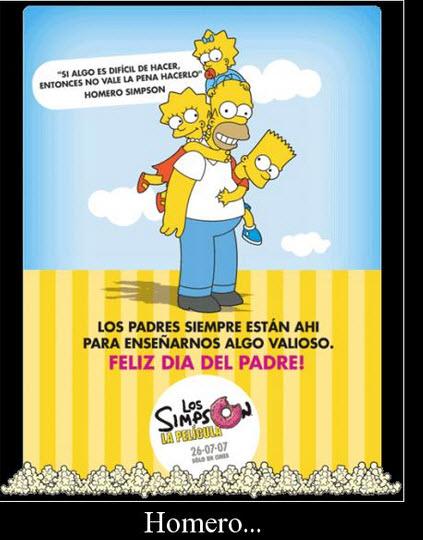 Día del Padre los Simpsons