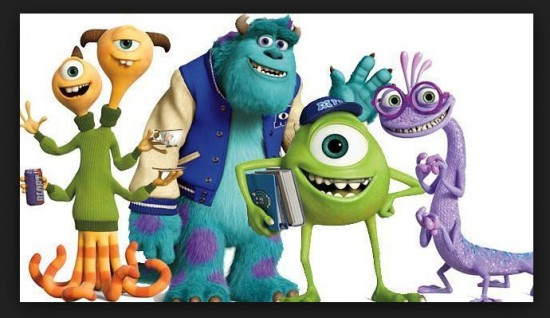 Personajes de Monsters University 2013