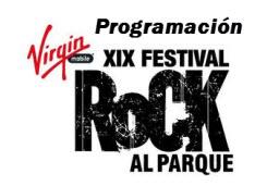 Programación oficial Festival Rock al Parque 2013
