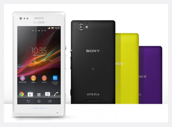 Sony Xperia M Dual, colores