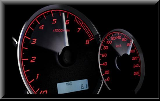 Subaru Impreza, medidores electroluminiscentes