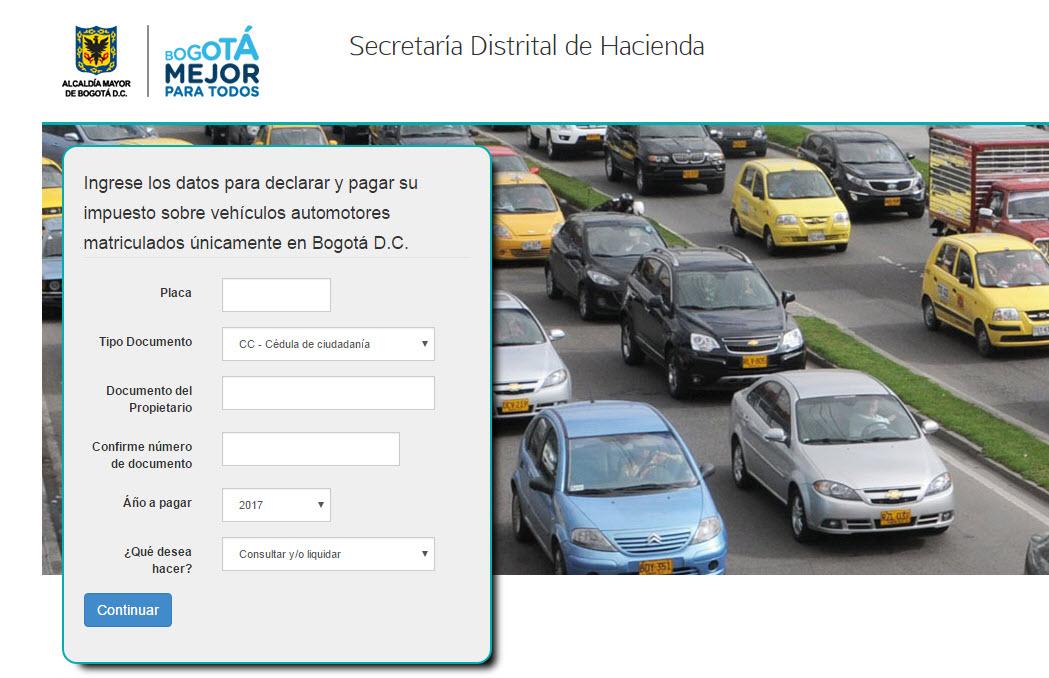 consultar-impuestos-de-vehiculos-en-bogota-2017
