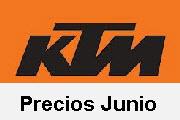 Precios motor junio para motos nuevas KTM 2013