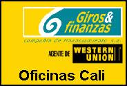 Dirección y telefono de Giros y Finanzas Cali