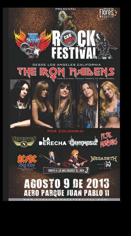 Afiche oficial Car Audio Rock Festival 2013