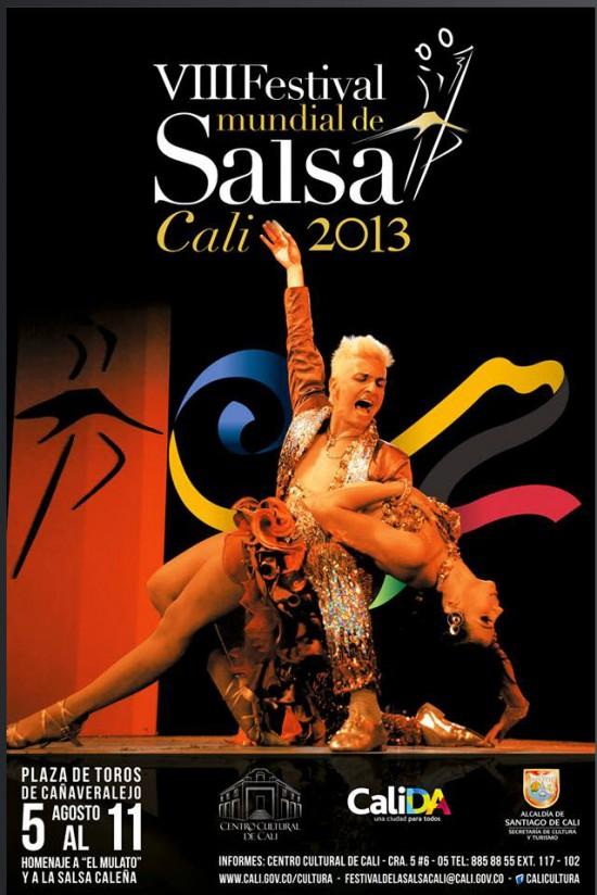 Afiche oficial Festival Mundial de Salsa en Cali 2013
