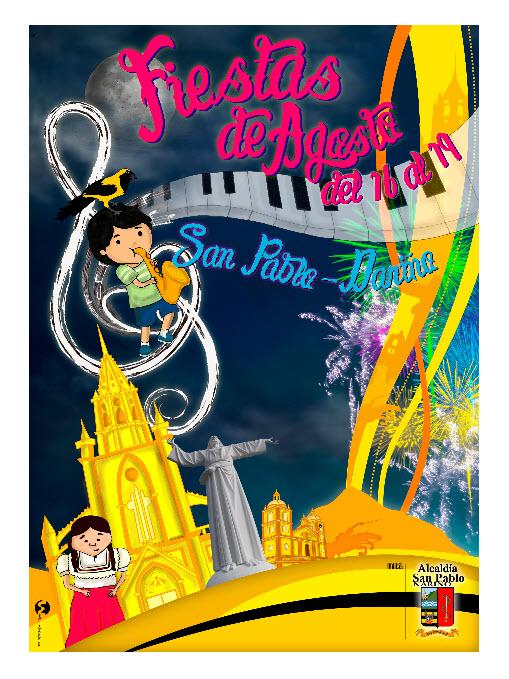 Afiche oficial Fiestas de Agosto en San Pablo 2013