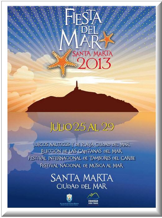 Afiche oficial Fiestas del Mar 2013