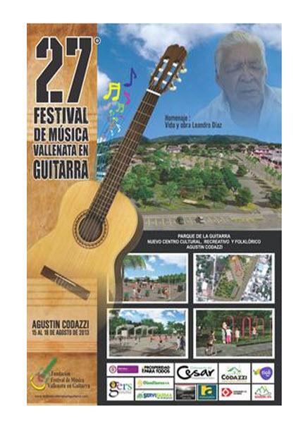 Afiche promocional Festival de Música Vallenata en Guitarra 2013