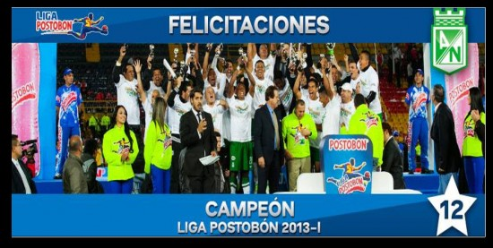 Atlético Nacional Campeón Liga Postobón 2013 1