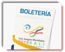 Boletería para los Juegos Mundiales 2013 Cali