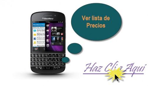 Listado de Ofertas Blackberry Q10