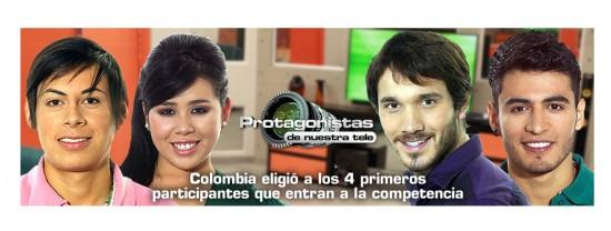 Los primeros 4 participantes de Protagonistas de Nuestra Tele 2013