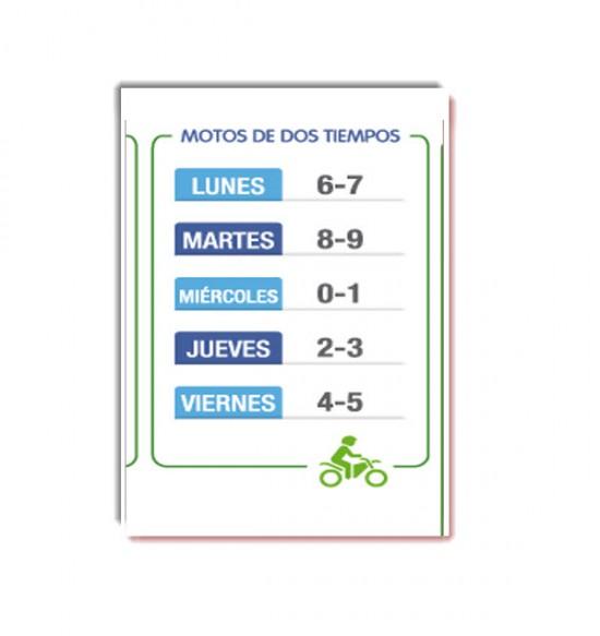 Pico y Placa Medellin 2013 motos dos tiempos, segundo semestre