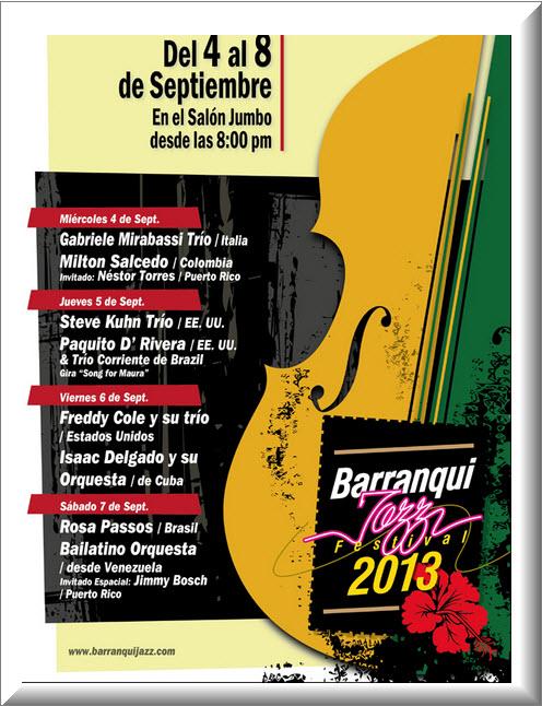 Programación Festival Barranquillaz 2013