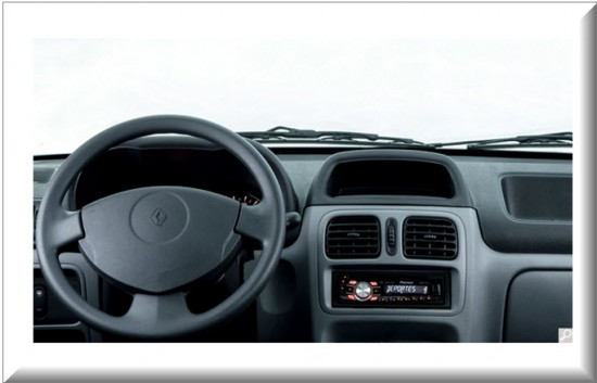 Taxi Renault Express, diseño interior