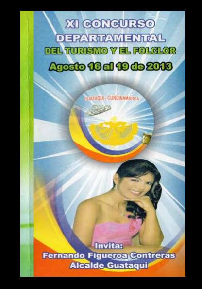Afiche oficial Concurso Departamental del Turismo y el Folclor 2013