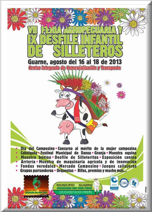 Feria Agropecuaria y Desfile Infantil de Silleteros en Guarne 2013