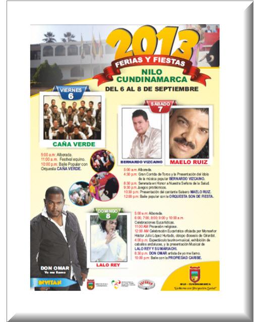 Afiche oficial Ferias y Fiestas 2013 en el Nilo