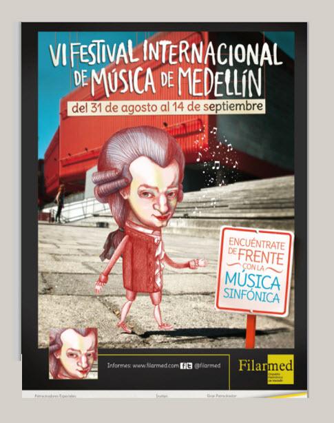 Afiche oficial Festival Internacional de Música en Medellin 2013