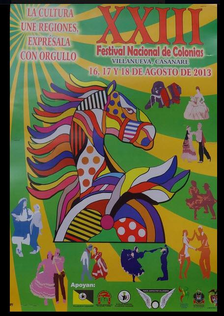 Afiche oficial Festival Nacional de Colonias 2013