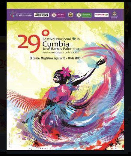 Afiche oficial Festival Nacional de la Cumbia 2013