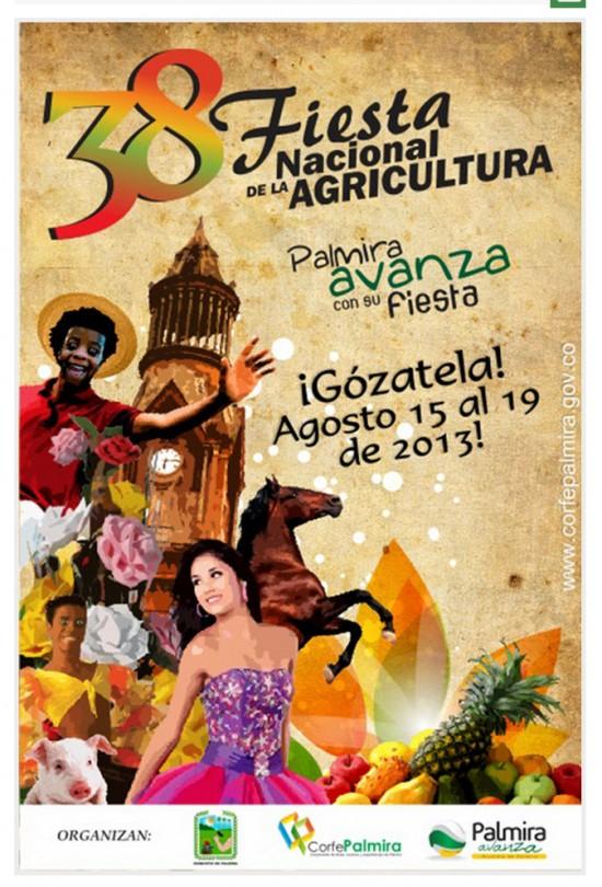 Afiche promocional Fiesta Nacional de la Agricultura 2013
